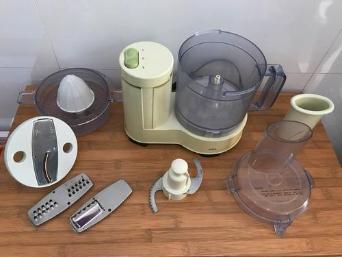 processador de alimentos braun retro completo 110v