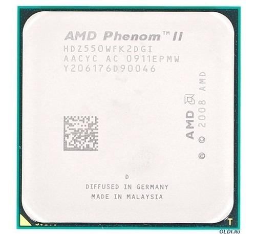 processador hdx550 phenom ii x2  socket am+ am3 3100