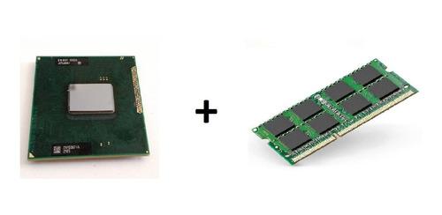 processador i5 2.6ghz pga988 + memória 4g ddr3 para notebook