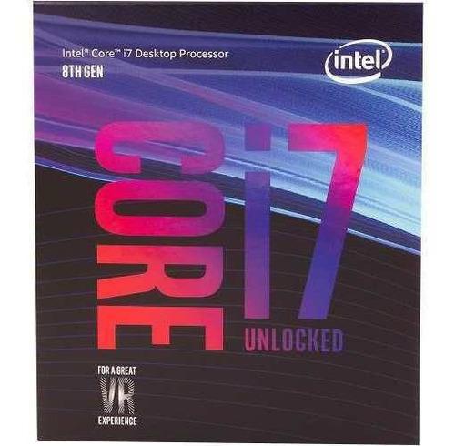 processador intel 1151 core i7-8700k coffee lake geração 8a