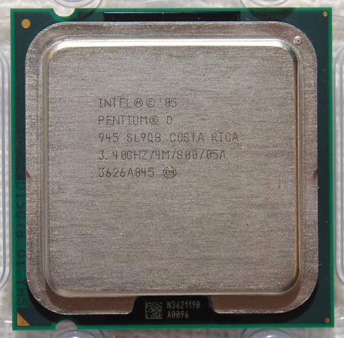 processador intel 775 pentium d 945 dual core