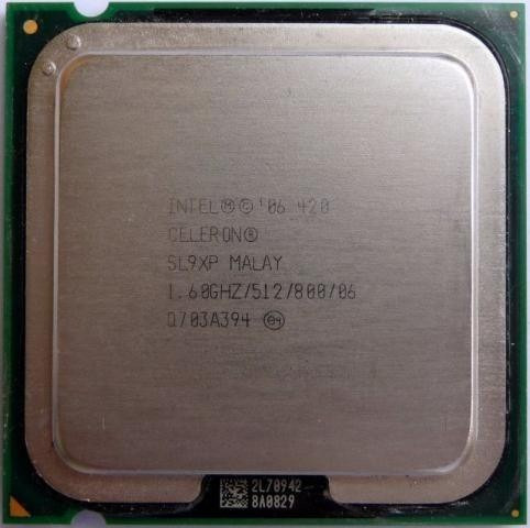 processador intel celeron 1.6ghz skt 775 p/pc envio t.brasil