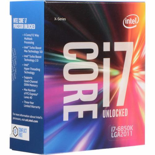 processador intel core i7 6850k lga 2011-v3 3.8 ghz 15m