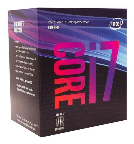 processador intel core i7-8700 coffee lake 8a geração