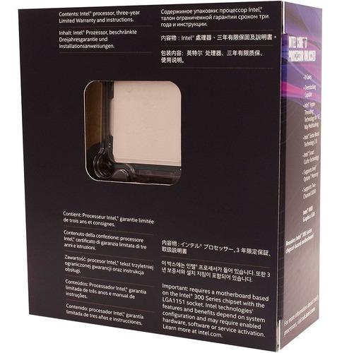 processador intel core i7 8700k 3,7/4,7ghz 1151 8ª geração