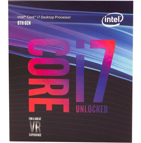 processador intel core i7 8700k 3,7ghz lga 1151 8ª geração