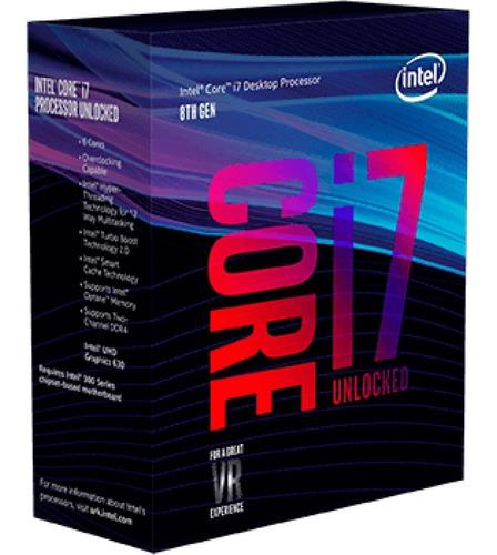 processador intel core i7 8700k / 4.7ghz / 12 mb / lga 1151!