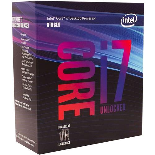 processador intel core i7 8700k 4,7ghz lga1151 8ª geração