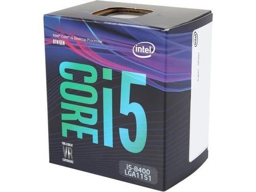 processador intel i5-8400 cache 9mb, 2.8 a 4.0ghz max turbo