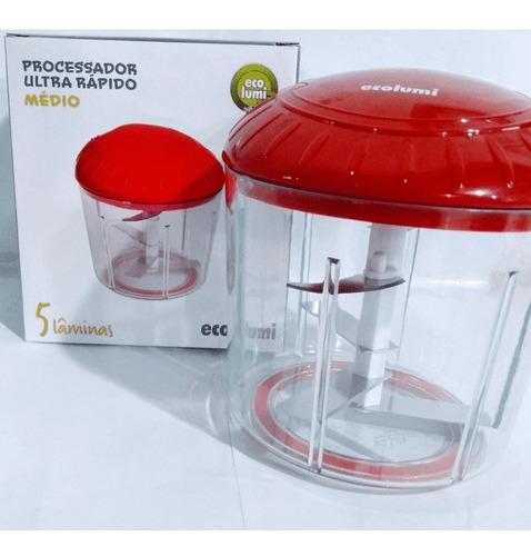 processador manual 5 lâminas cortador  de alimentos ecolumi