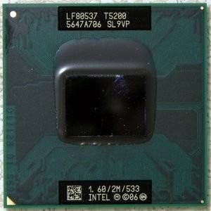 processador mobile intel c2d/1.6ghz/2mb/533 p/n:lf80537t5200