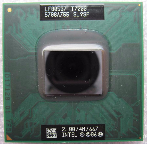 processador notebook core 2 duo t7200 sl9sf