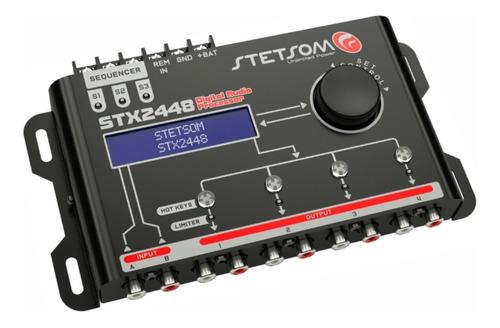 processador stetsom equalizador stx 2448 + controle sx2 ligh