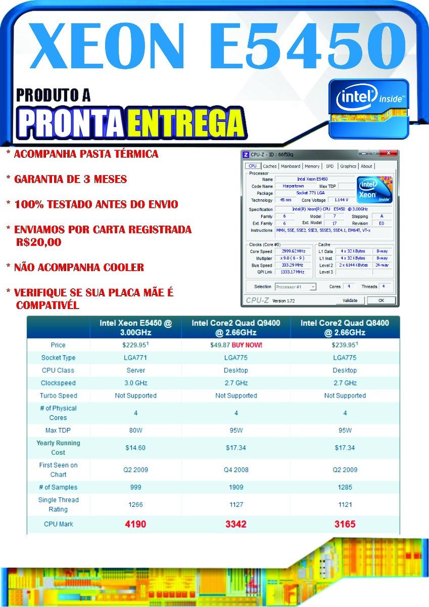 Processador Xeon E5450 Modificado Para Lga775 Temos X5460