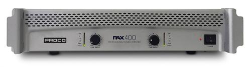 proco pax 400v2 amplificador profesional de potencia dj 400w