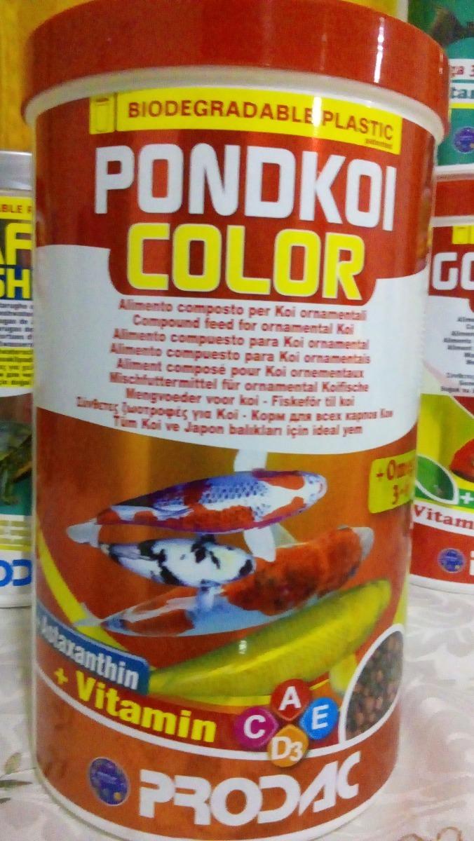 Prodac pondkoi color 400 gr alimento koi estanque dulce for Carpa koi costo