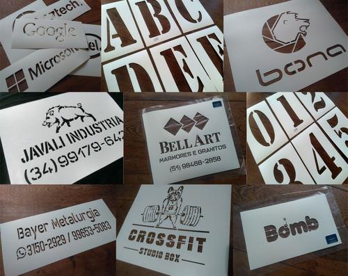 produção de stencil personalizado logo, nomes, desenhos