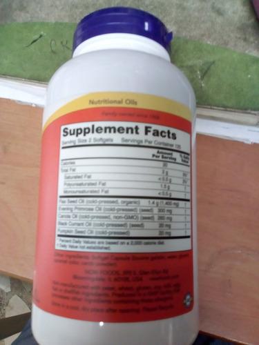 producto especial para cuidar tu salud,now omega 3,6,9 por 2