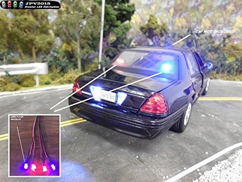 producto genuino jpv2015 - 4 led policía rc kit de iluminaci