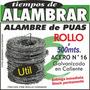 Alambre De Púas (rollo 500mts.)