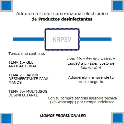 productos limpieza kapsymini curso-manual desinfectantes