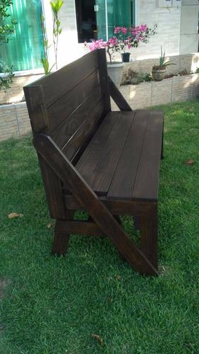 produto novo!conjunto de banco mesa/móveis de madeira sc