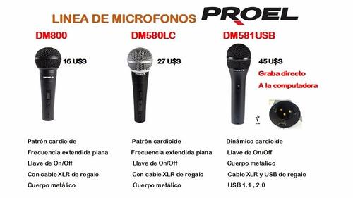 proel dm800 microfono dinamico cardioide conector xlr