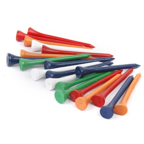 profesional de madera golf tees 69 mm largo 300pcs mixto col