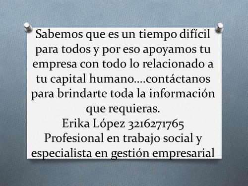 profesional en trabajo social y especialista en gh