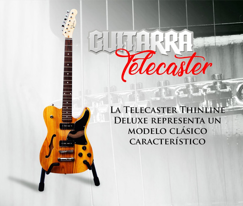 profesional guitarra electrica telecaster thinline edition