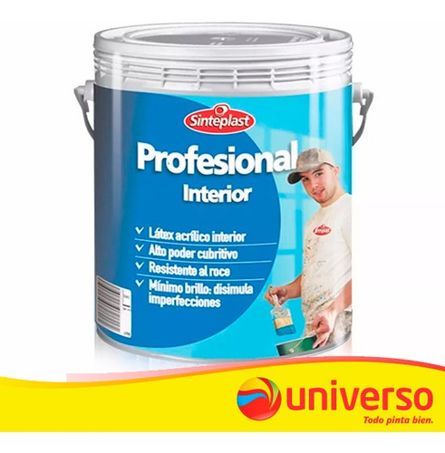 profesional interior pintura latex 20 lt  sinteplast univers