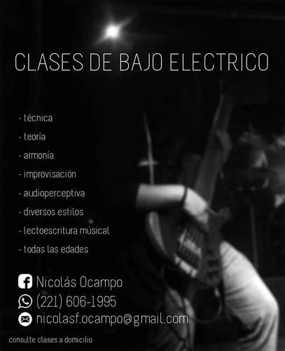 profesor clases de bajo eléctrico / música en la plata