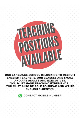 profesor de inglés ¡urgente!