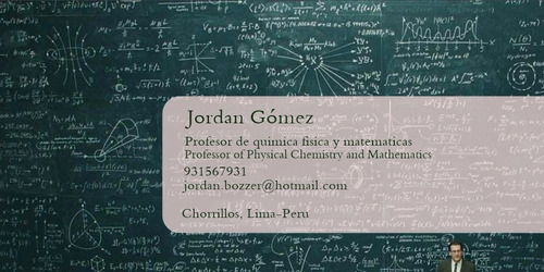 profesor de matemática, fisica y quimica