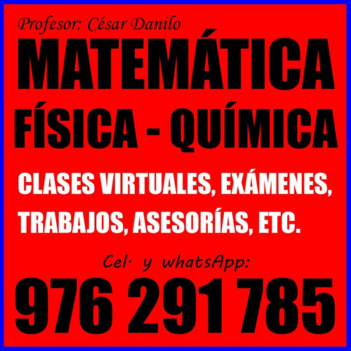 profesor dicta clases de matemática, física y química