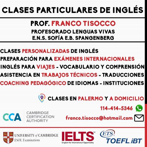 profesor particular de inglés - nativo usa - bilingüe