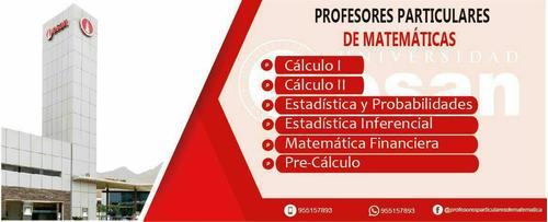 profesor particular de matemática y estadística