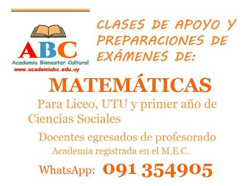 profesor particular de matemáticas para liceo y facultad