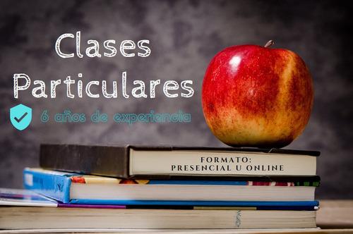 profesor particular matemática - física