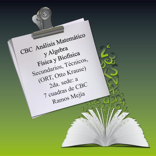 profesor particular matemática física cbc, biofisica