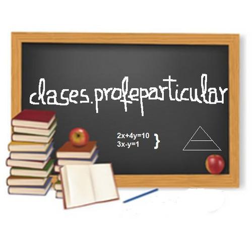 profesor particular matematica física química ingles