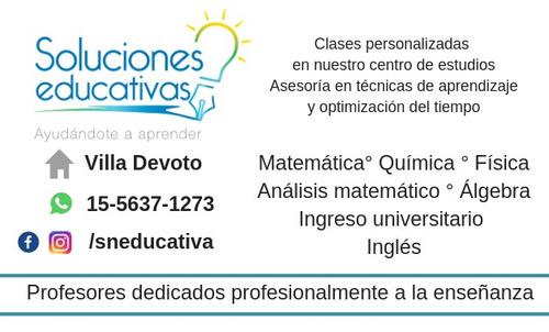 profesor particular matemática química fisic ingreso utn cbc