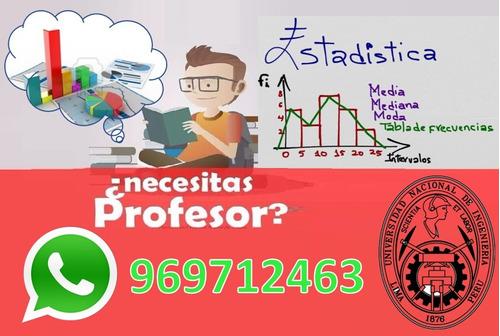 profesor uni (alumno) dicta clases de estadística
