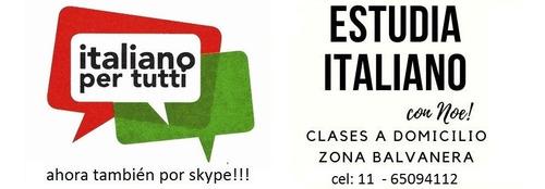 profesora de italiano, todos los niveles, clases por zoom