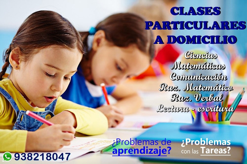 profesora inicial-primaria, clases particulares matemáticas