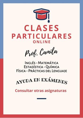 profesora particular - brindo clases y resuelvo exámenes