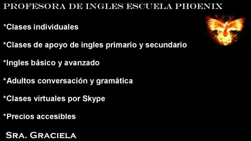 profesora particular de ingles