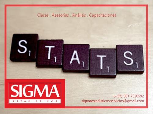 profesores estadística y probabilidad. clases y asesorías.