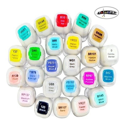 professional arte marcadores set24base de alcohol doubl
