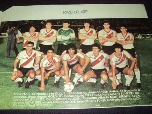progama de la final copa interamericana 1987 / river campeon